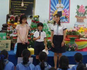 สมาชิกนกสีฟ้าต้อนรับ บ.พ.ญี่ปุ่น และทำกิจกรรมแลกเปลี่ยนเรียนรู้ร่วมกัน