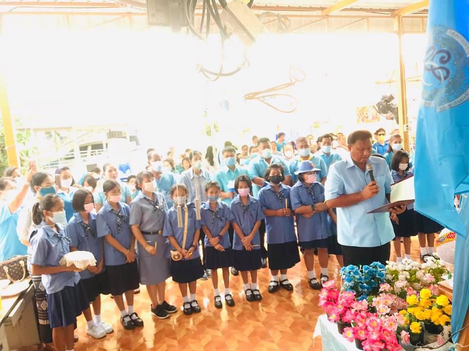 สมาชิกผู้บำเพ็ญประโยชน์รุ่นนกสีฟ้า โรงเรียนวัดคุณหญิงส้มจีนฯ ร่วมกิจกรรมจิตอาสาบำเพ็ญสาธารณประโยชน์