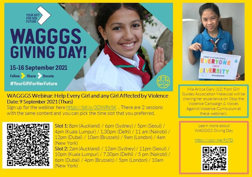 WAGGGS GIVING DAY !